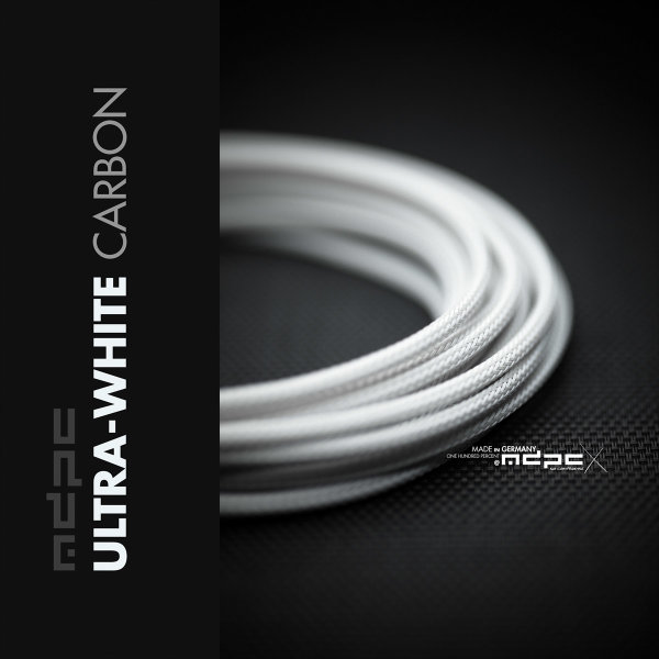 MDPCX Sleeve I Small I 1meter Ultra-White Carbon