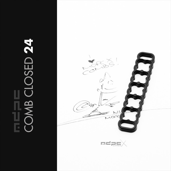 MDPCX Cable Combs 24 Closed Black